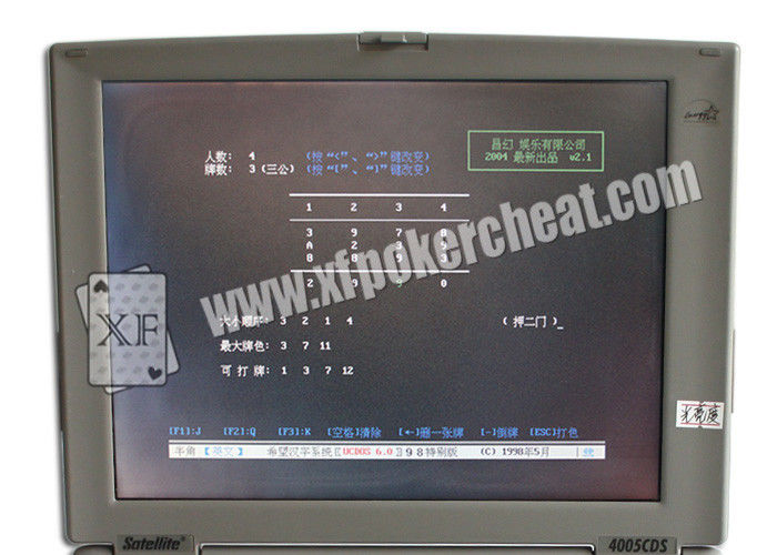 Grey Plastic Professional Card Cheat Computer , Casino Gambling Devices