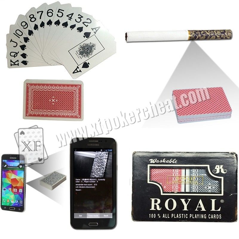 Royal Plastic Marked Poker Cards Narrow Size Super Index For UV Contact Lenses