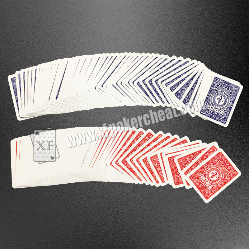 Bar Code Marked Modiano Adjara Plastic Playing Cards For Poker Cheat Device / Analyzer