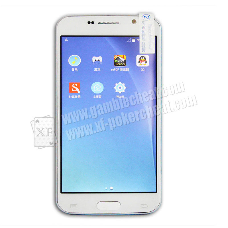 White Samsung S8 Mobile Phone Poker Cheat Device Marked Playing Cards Analyzer