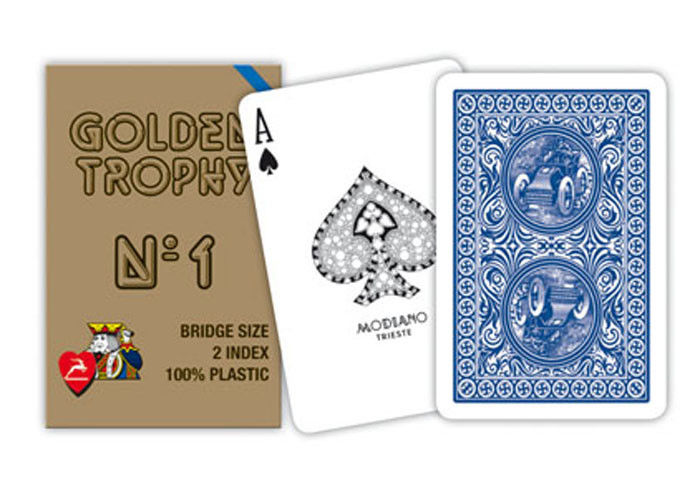 Plastic Modiano Golden Trophy Gambling Props Casino Grade Playing Cards