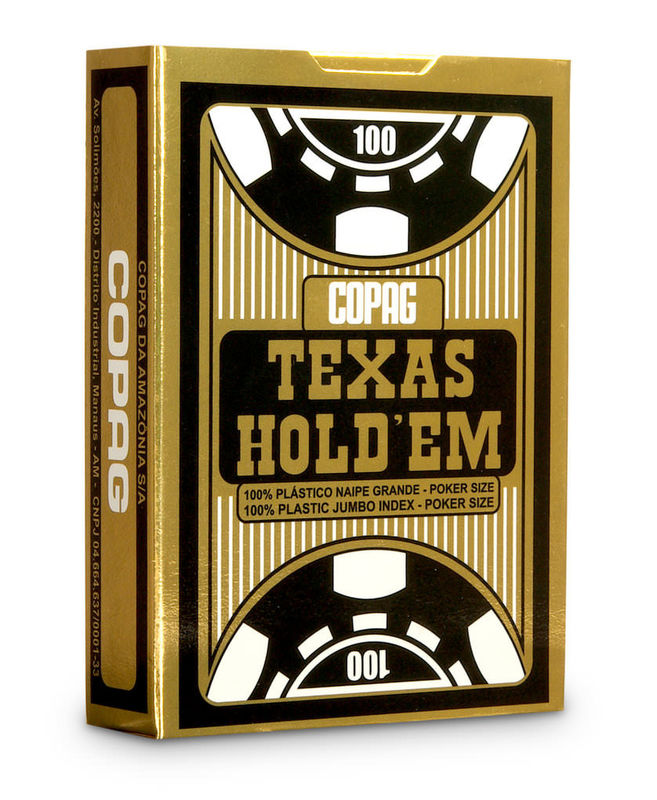 Copag Texas Hold'em Red / Black Gambling Props Cards With Poker Size Jumbo Index